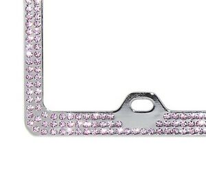 BABY PINK CRYSTAL Screw Caps for License Plate Frame made w// Swarovski Elements