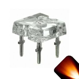 100 x LED 5mm 4.8mm Amber Orange Diffused Ultra Bright Straw Hat LEDs Light RC