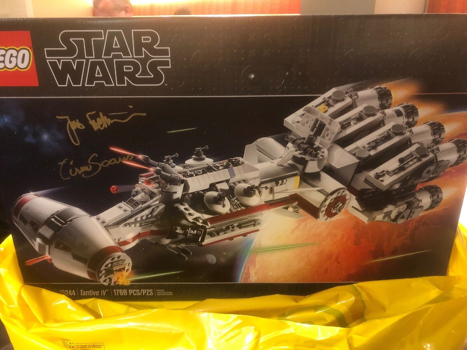 Stern WARS LEGO Tantive IV 75244 Celebration Exclusive Prerelease Signed- In Hand