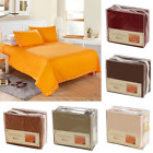 Bedding Set Twin Full Queen King Size Soft Pillow Case Bedspread Fitted Sheet