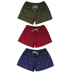 Costume-da-Bagno-Uomo-Fantasia-Rosso-Blu-Verde-Pantaloncini-Mare-Boxer-Corto