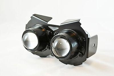Universal Black E-marked Streetfighter Motorcycle Motorbike Headlight 12V 55W