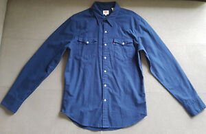 Herren-Hemd-LEVIS-LEVI-S-Barstow-Western-65816-0228-Nightwatch-Blue-gr-M