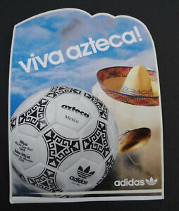 Promotional Stickers Adidas Azteca World Cup Ball Football 1986 Mexico