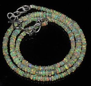 2to4mm17-034-2-034-925-silver-chain-Genuine-Ethiopian-Welo-Fire-Opal-beads-Necklace