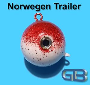 Norwegen-Trailer-90g-115g-140g-170g-Sea-Trailer-Kugelblei-mit-Ose-Jigkopf