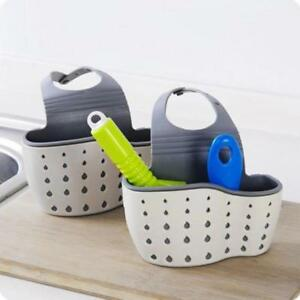Sink-Shelf-Soap-Sponge-Drain-Rack-Bathroom-Holder-Kitchen-Storage-Suction-Cup-WT