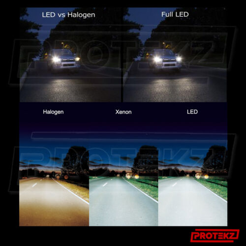 Fog Light Kit H1 6000K HID Protekz 120W 12800lm LED Lights White Headlight