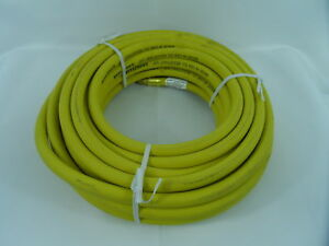 """Rubber Air Hose New 50ft 3/8"""" Goodyear w/ 1/4"""" Ends MADE IN THE USA! NEW"""