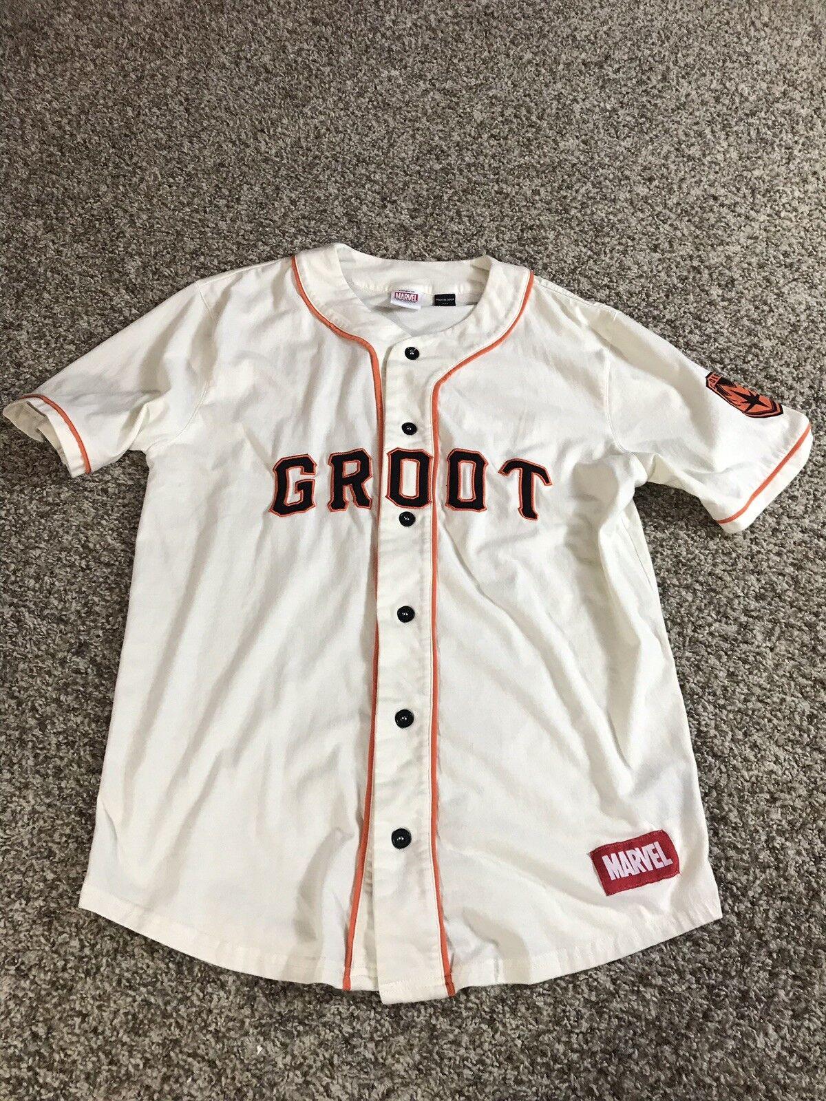 Marvel Groot San Francisco Giants Themed Comic Book Hero Baseball Jersey - S/M