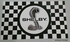 """Shelby """"Tiffany Snake"""" Checkered Flag 3' X 5'  Great for Car Shows!"""