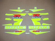 GSXR 600 2004 custom neon yellow decals stickers graphics k4 k5 fluorescent 2005