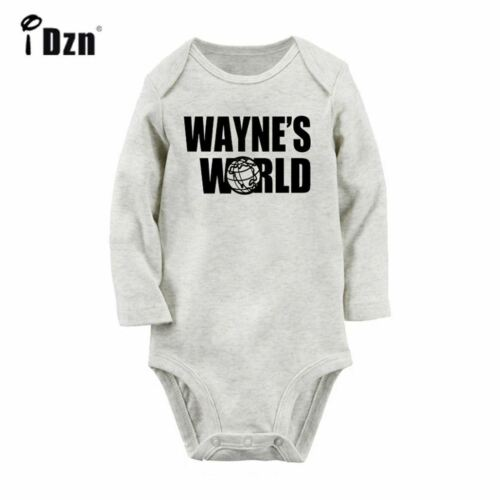 TV show comedy WAYNE/'S WORLD Newborn Jumpsuit Baby Long Sleeve Romper Bodysuits