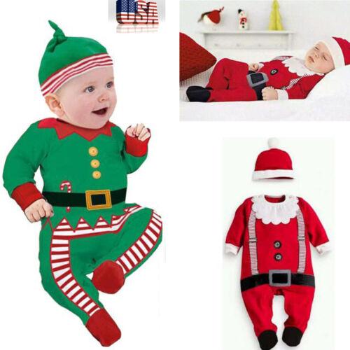 Noël vêtements Bébé Tenues Enfants Coton Ange Hat Cap Set Cadeau de Noël