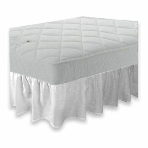 under mattress Kingsize 5/' bed frilled base valance sheet 68pick 21 colours