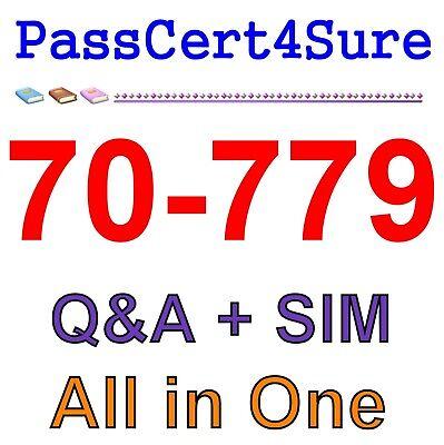 Best Exam Practice Material for 70-779 Exam Q/&A PDF+SIM