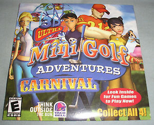 3d ultra minigolf adventures carnival pc computer cd taco bell video game new ebay. Black Bedroom Furniture Sets. Home Design Ideas