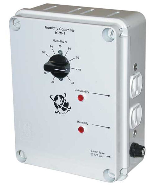 C.A.P HUM-1 Hydroponic Climate Humidity Dehumidifier Controller w/ 2 Outlets