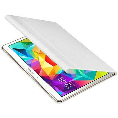 Genuine Official Samsung Galaxy Tab S 10.5 Book Cover Case White - EF-BT800BWEGW