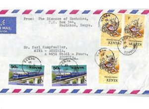 CF219-1976-Kenya-MACHAKOS-MISSIONARY-Air-Cover-MIVA-Austria-SEA-SHELLS