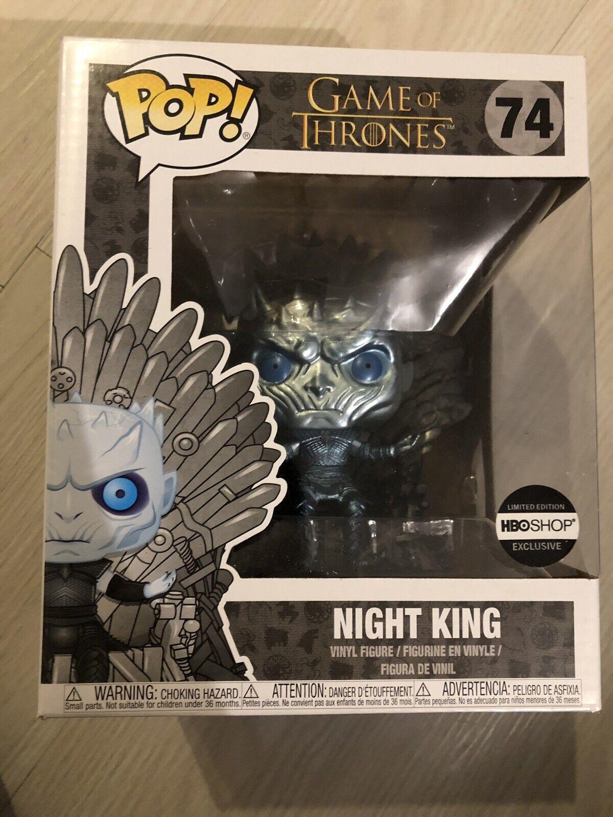 Game of Thrones - Metallic Night King on Throne  74 (HBO Shop) Funko Pop  Vinyl