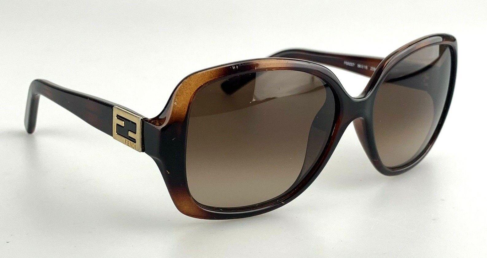 FENDI Sunglasses mod. FS5227 238 Brown Oversized Tortoise Made in Italy