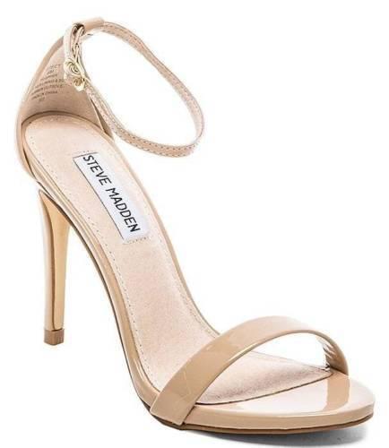 Steve Madden Stecy Blush Patent Pelle Ankle Strap Heels Sz 10