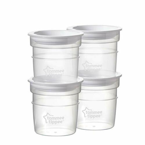 Tommee Tippee Closer To Nature Milk Storage Bottle Lids /& 60ml Pots x 4