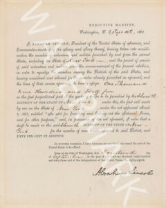 ABRAHAM-LINCOLN-GREAT-SIGNED-10X8-DOCUMENT-PRINT-LOOKS-AWESOME-FRAMED