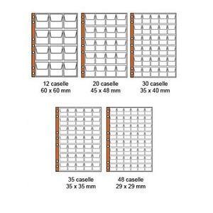 Masterphil-Confezione-10-fogli-per-monete-formato-UNI-INSERTI-Rinforzati