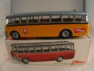 Tekno N° 850 Bus Volvo Ptt Suisse Autobus État Neuf En Boite Mib