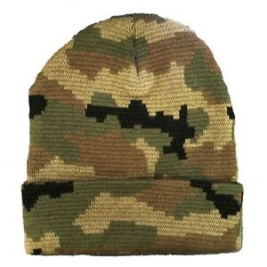 Woodland Green Knit Skull Hunting Camo Camouflage Ski Winter Beanie Hat Hats Cap Ebay