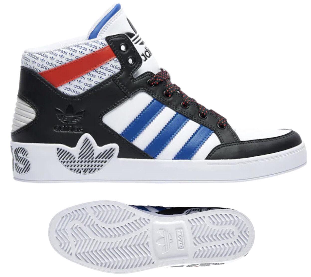 Neu Adidas Original Hart Court Herren Weiß Schwarz Rot Blau Turnschuhe Alle Größen