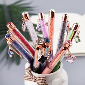 Glitter-Ballpoint-Pen-Crystal-Star-Pendant-Writing-Stationery-School-Supply