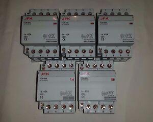 ac modular contactor 40 amp 4 pole lighting heating etc 240 volt coil NEW