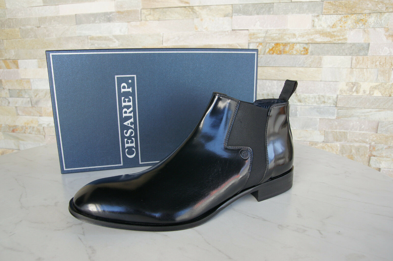 Cesare P.Paciotti 41,5 7,5 Ankle Boots Stretch shoes Black New Ehemuvp
