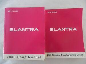 2003 Hyundai Elantra Service Repair Manual Includes Wiring Diagram Manual Ebay