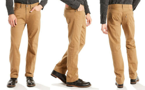 NWT Men/'s LEVI/'S 505 Jeans REGULAR FIT Straight 100/% Cotton Caraway Desert Khaki