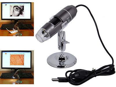20x-800x 2MP 8-LED Light USB Mini Digital Microscope Endoscope Magnifier Video