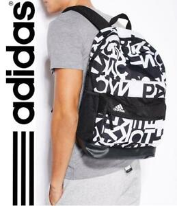 New-adidas-G3-Backpack-Black-White-gym-school-college-laptop-rucksack