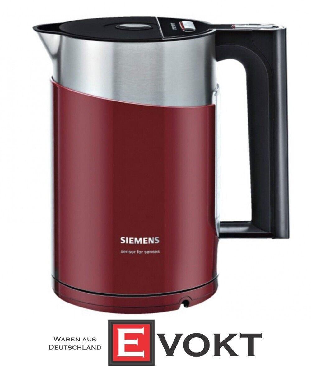 Siemens Sans Fil Bouilloire électrique TW86104 en Rouge airelle NEUF & AUTHENTIQUE