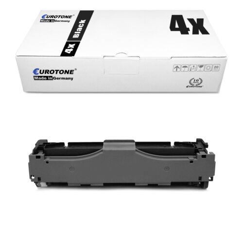 4x Eurotone PRO Toner SCHWARZ für HP Color LaserJet Pro MFP M-477-fdn M-452-dw