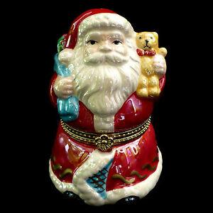 "CHRISTMAS wind-up PORCELAIN MUSIC BOX ORNAMENT / SANTA CLAUS / ""JINGLE BELLS"" | eBay"