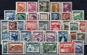 "Cat 49$ Complete Set 35 Values Vf/mnh Landscapes 1945 ""austria"" Definitives"