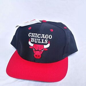 VTG Logo 7 Snapback Hat NWT Chicago Bulls 90s Plain Logo Jordan Cap ... b553649a674a