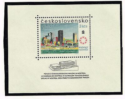 Ordentlich Tschechisch Montreal Architecture Souvenir Blatt Exposition 1967 Mnh Mangelware Briefmarken Europa