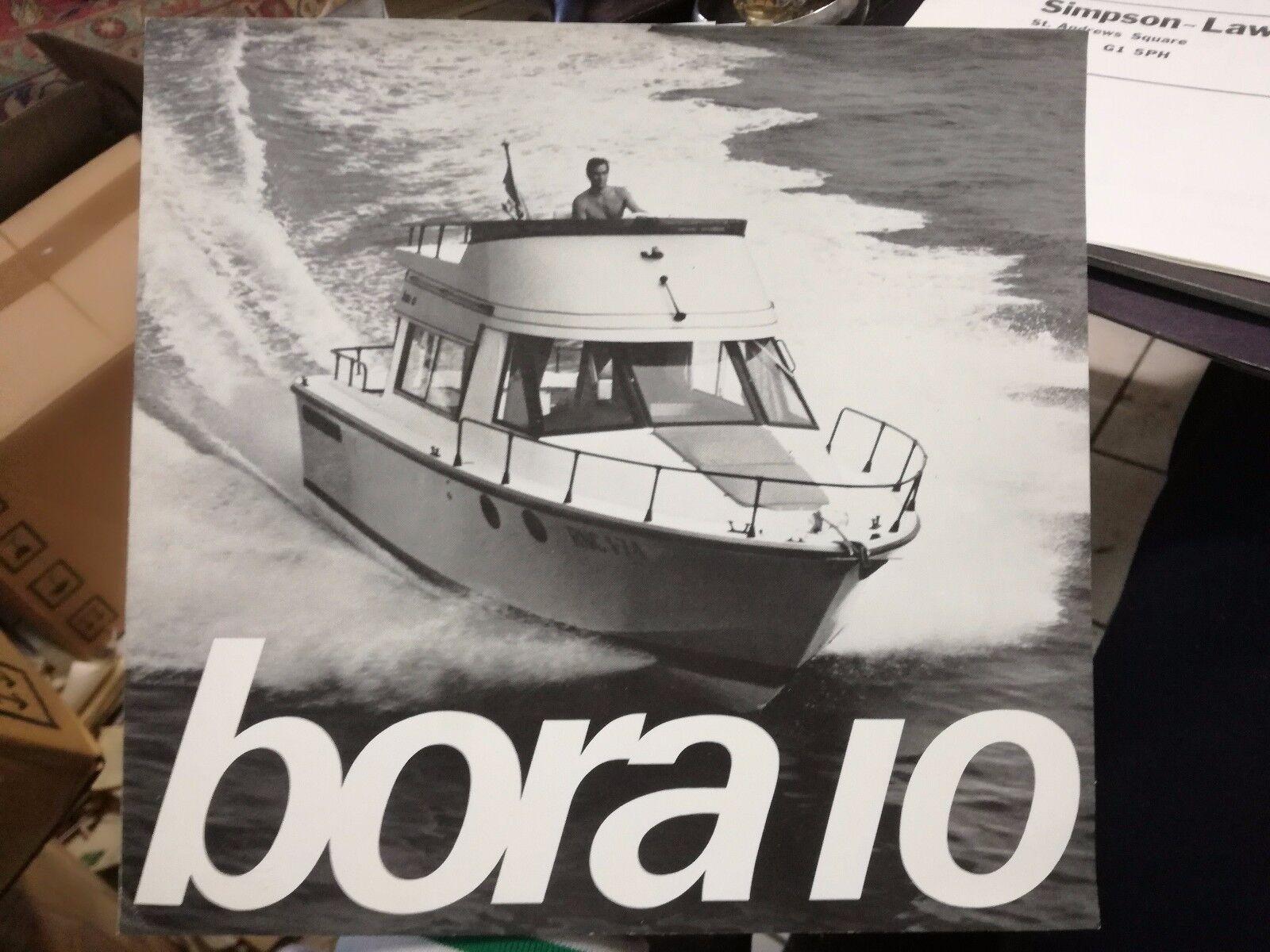 Bora 10 barco folleto de anuncio 1974 nautica nautica nautica astillero 32a614