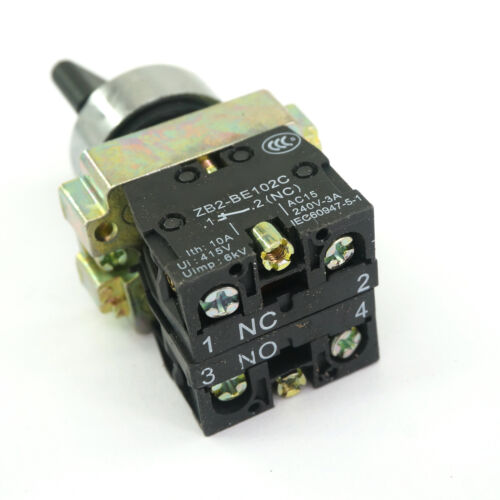 2 Position 1NO 1NC Maintained Select Selector Switch Replacement Fits XB2BD25C