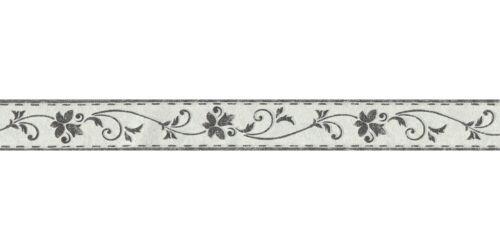 41,56€//1qm Tapetenborte Borte Ranke grauweiß schwarz selbstklebend 2590-11