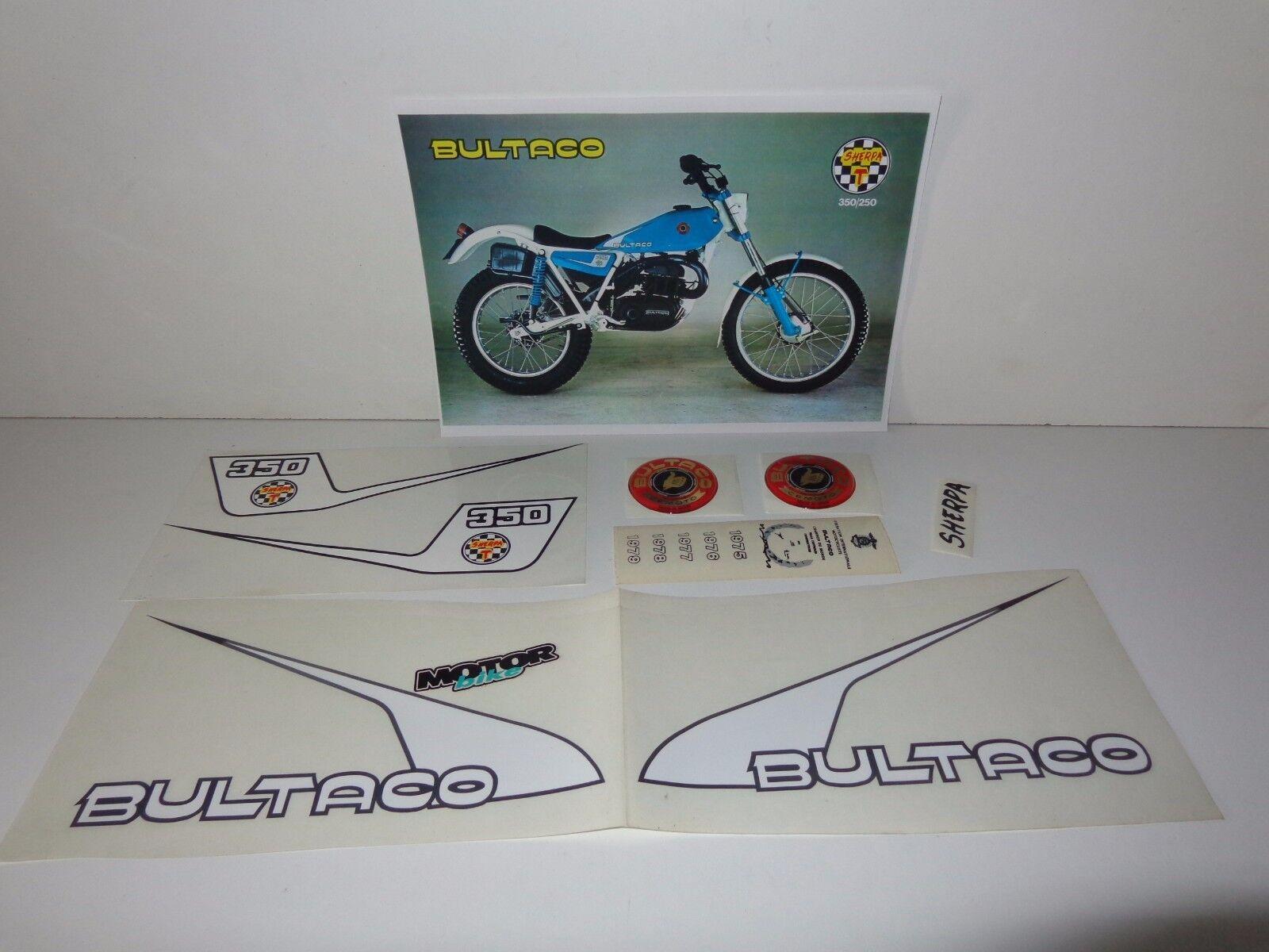 Bultaco sherpa 250 and 350 blueee 198B and 199B